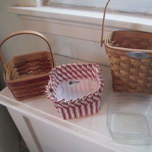 longaberger basket lot of 2